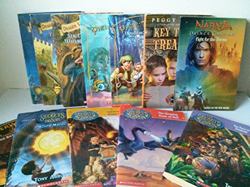 Fantasy Series Mix: The Secret of Droon, Moon Magic; the Race to Doobesh; the Sleeping Giant of Goll; the Battle Begins; Key to the Treasure; Pixie Tricks; Dragon Slayers Academy (Key To The Treasure By Peggy Parish)