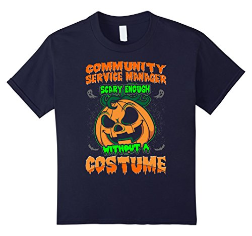 Kids Community Service Manager Scary Costume Halloween Tshirt 12 (Community Service Costume For Kids)