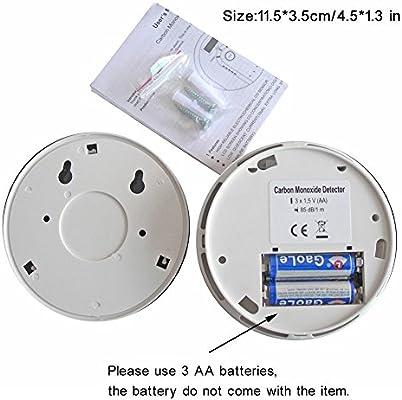 tepoinn monóxido de carbono Detector CO Alarma de humo y alarma con Pantalla Digital elektroc hemische Co Sensor, pantalla digital, alerta de voz, y ...