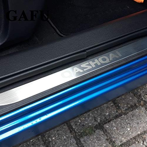 Car Styling Door Sill For Qashqai J11 2017 2018 Scuff Plate Protector Stainless Steel Door Sills Protector Stickers