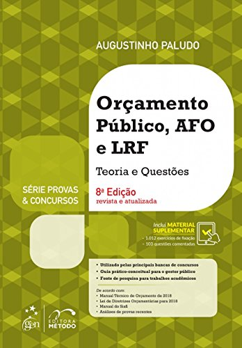 Orçamento Público, AFO e LRF. Teoria e Questões