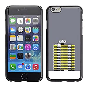 Ihec Tech Gris Edificio amarillo Robot Grey Art / Funda Case back Cover guard / for Apple Iphone 6 Plus 5.5