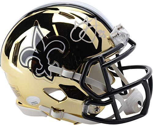 Marshon Lattimore New Orleans Saints Autographed Riddell Chrome Mini Helmet Signed in White - Fanatics Authentic Certified