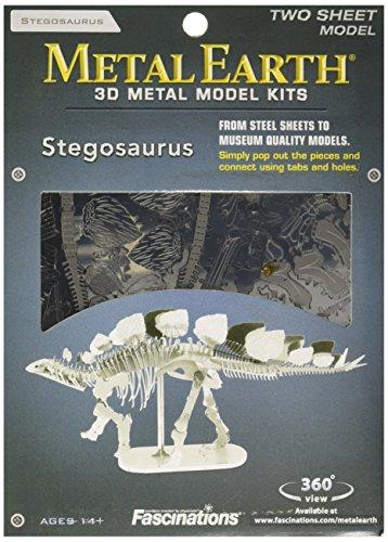 - Fascinations Metal Earth Stegosaurus Skeleton 3D Metal Model Kit