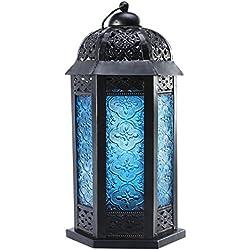 APEX LIVING Moroccan Style Lantern Blue Twilight