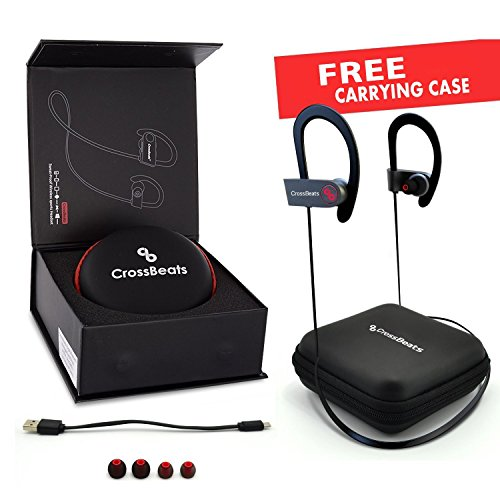 184f30e8cbb Reviews Summary + Pros/Cons - CrossBeats Wave Waterproof Bluetooth Wireless  Earphones For Mobile With Mic And Carry Case Black