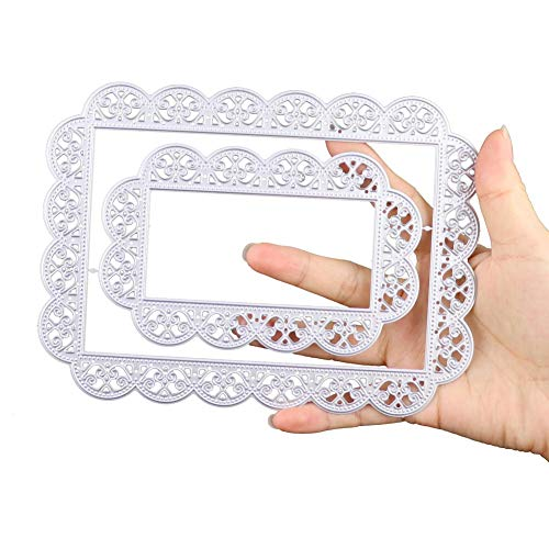 Big Cutting Dies 2-Piece Lace Background 5.11 by 6.92 Inch for Card Making - Lace Die