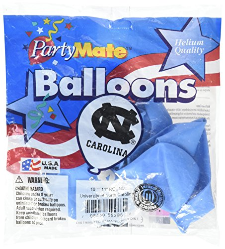 Pioneer Balloon Company 10 Count University of North Carolina Latex Balloon, 11