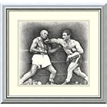 Framed Art Print 'Rocky Marciano' by Allen Friedlander