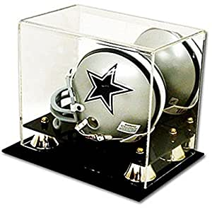 Deluxe Acrylic Football Mini Helmet Display Case With Mirrored Back