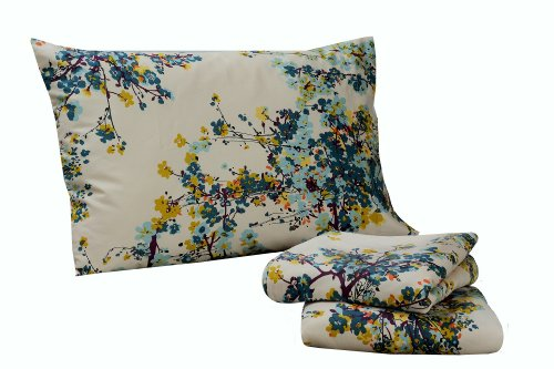 TRIBECA LIVING Casablanca Floral Printed Deep Pocket for sale  Delivered anywhere in USA