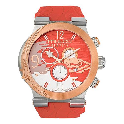 Mulco MW5-3567-633 Gravity Jupiter Swiss Chronograph Coral Watch