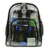 Heavy Duty Clear Backpack See Through Daypack Student Transparent School Bookbag