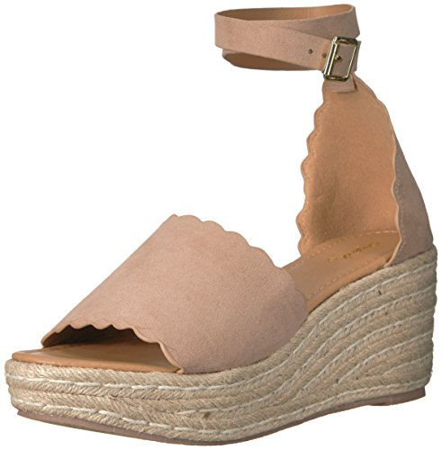 Qupid Women's Espadrille Wedge Sandal Warm Taupe i9W6bngDYz