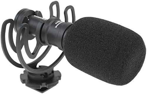 Commlite cabeza de micrófono direccional con schw Ingh Projector – Por ejemplo para DSLR, DSLM de cámaras, cámaras GoPro o Smartphones – ultracompacto: Amazon.es: Electrónica