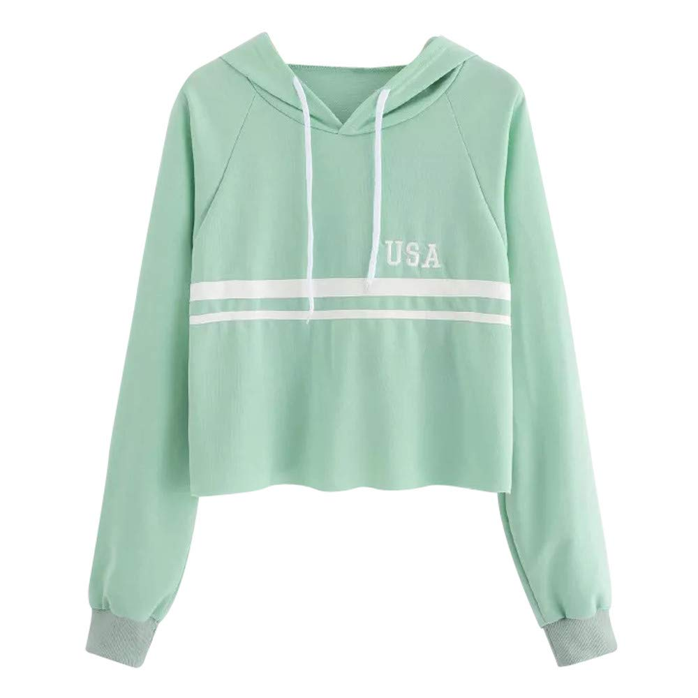 afc6059b Top10: Ulanda Women Fashion Swearshirt, Long Sleeve Hoodie Sweatshirt  Jumper Hooded Pullover Tops Blouse Raglan Sweatshirt