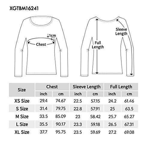 Regna X Women's Crewneck Long Sleeve Soft & Stretch Cotton Blend Top (S 3X, We Have Plue Sizes)