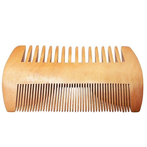 Aptoco Natural Beard Balm Moustache Cream Beard Oil Set Conditioner Beard Balm Healthy Moisturizing Moustache Wax Brush Comb (Beard Comb)