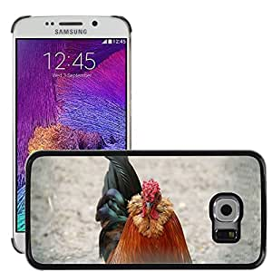 Super Stella Slim PC Hard Case Cover Skin Armor Shell Protection // M00106499 Chicken Farm Wings Feather Wildlife // Samsung Galaxy S6 EDGE (Not Fits S6)