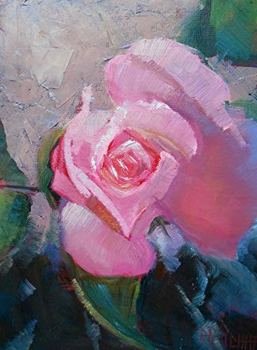 Rose Giclee Print on Canvas Choose Your Size Free Printer's ()