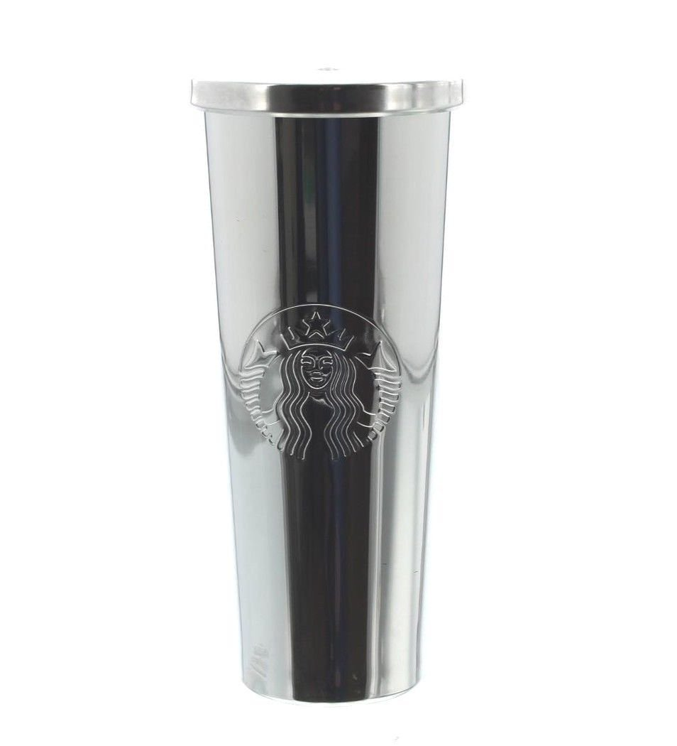 06cd448ce69 Amazon.com | Starbucks 24 oz. Stainless Steel Cold Cup Silver Siren:  Tumblers & Water Glasses