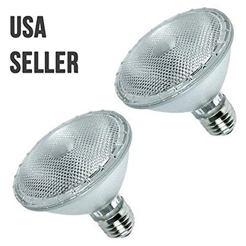 2 x Par30 Flood Lighting Par Halogen 50 Watt Reflector Light Bulb House Lamp USA