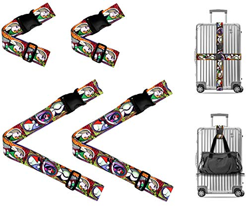 (Picasso Girl before a Mirror Travel Luggage Strap Suitcase Security Belt. Heavy Duty & Adjustable. Must Have Travel Accessories. TSA Compliant. 2 Luggage Straps & 2 Add A Bag Straps. 4-Piece Set.)