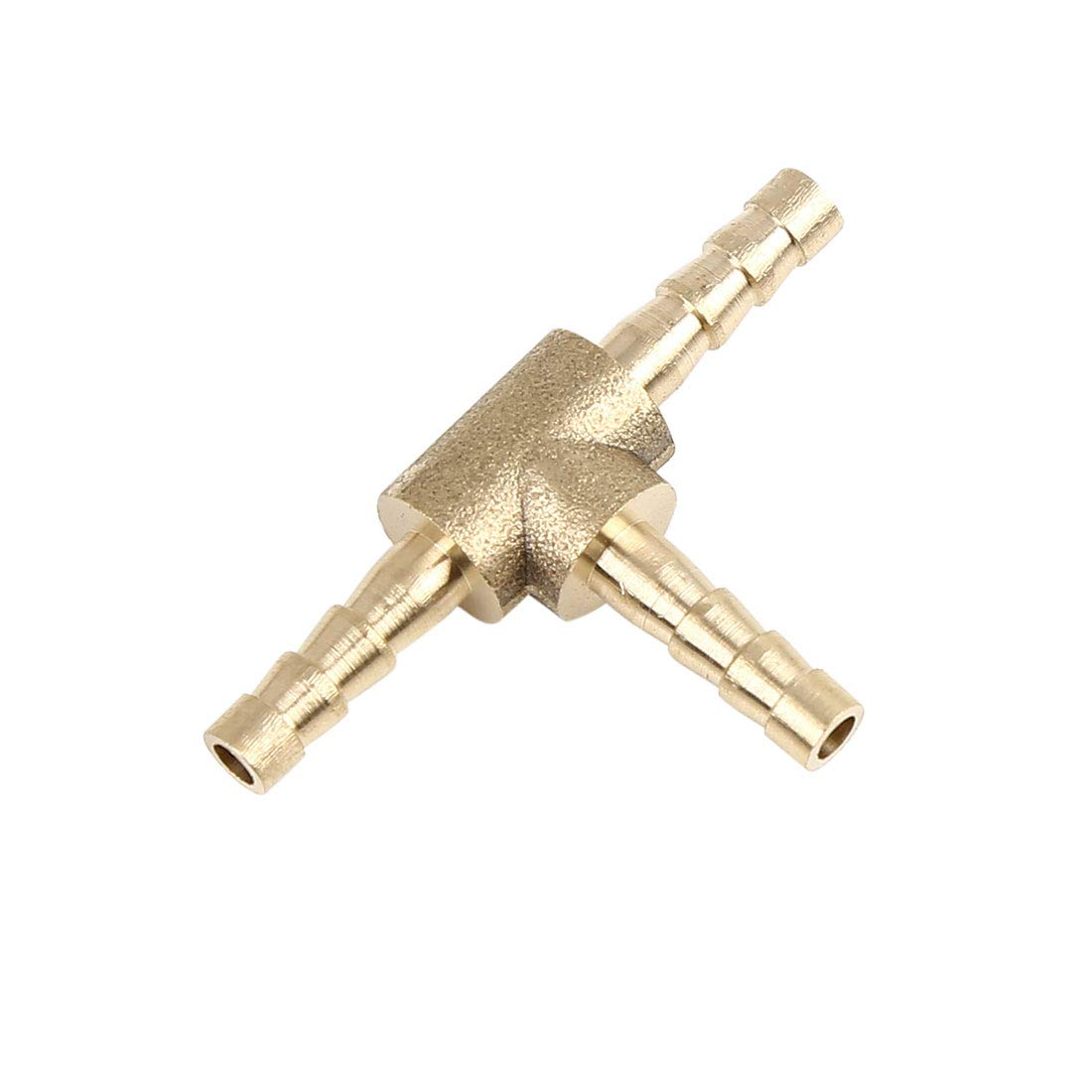 X AUTOHAUX 4mm Hose Barb Brass Joiner Tee 3 Way Adaptor for Air Water Oil Pipe