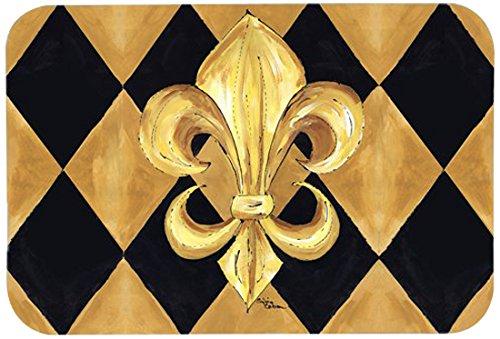 Amazon com  Caroline s Treasures 8125 JCMT  Black   Gold Fleur De Lis New  Orleans  Kitchen or Bath Mat  24  by 36   Multicolor  Kitchen Floor Mat   Kitchen. Amazon com  Caroline s Treasures 8125 JCMT  Black   Gold Fleur De
