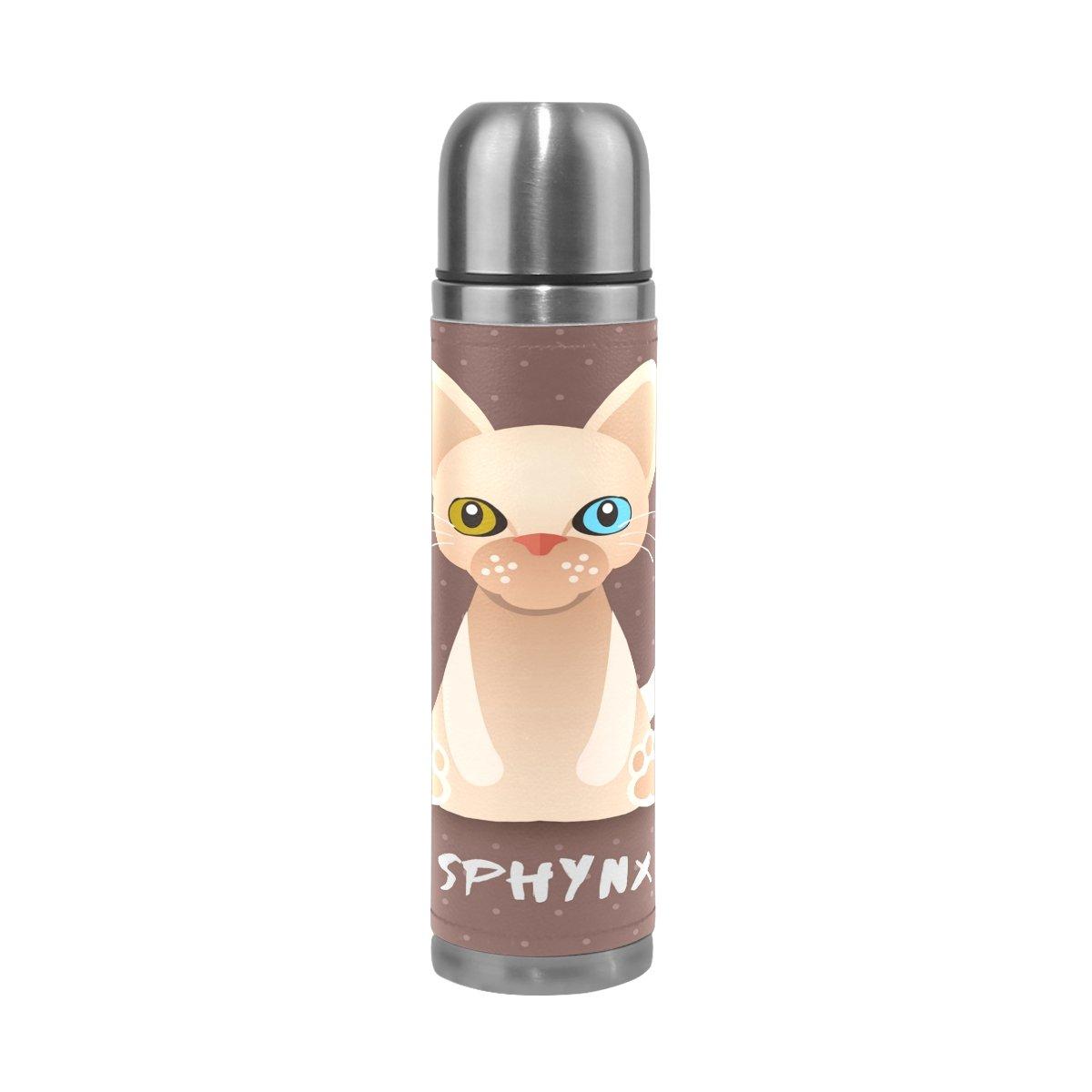 特価商品  Alaza Sphynx Sphynx Catステンレススチールウォーターボトル漏れ防止真空断熱魔法瓶フラスコ17 B078MMBS11 oz Genuine Leather Leather Wrappedカバー B078MMBS11, インナーショップ Wah:e71f317b --- a0267596.xsph.ru