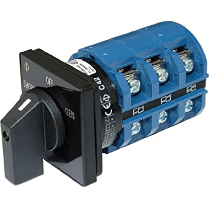 Image of Battery Switches AC Rotary Switch - OFF + 2 Positions 240V AC 65A