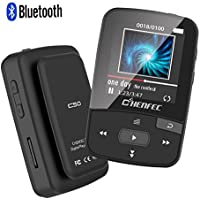 ChenFec C50 8GB Clip Bluetooth MP3 Player 1.5 Inch Screen Mini Size Lossless Sound Music Player with FM Radio Voice Record | Micro SD Card Support 64GB-Black
