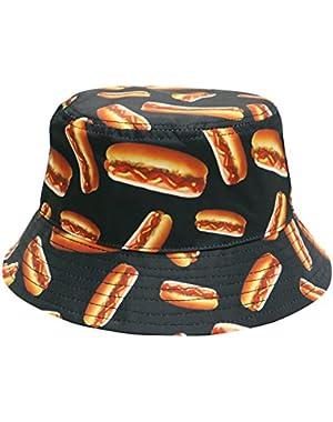 Hot Dog Bucket Hat, Black