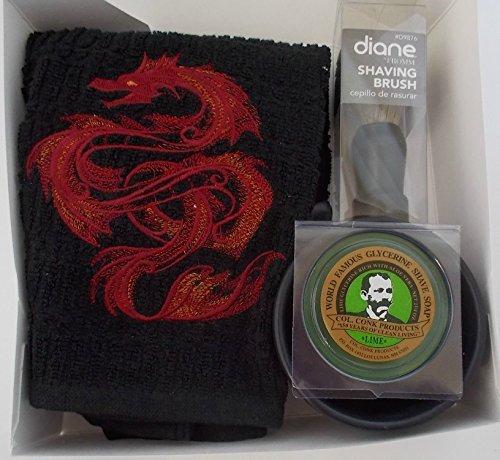 Shaving Set - BlackRed Dragon - Father's Day