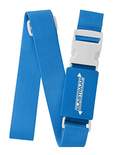 Luggage Straps, Adjustable Non-Slip Baggage Belts - Suitcase Bands for your Travel Bag (1 Item/Blue)