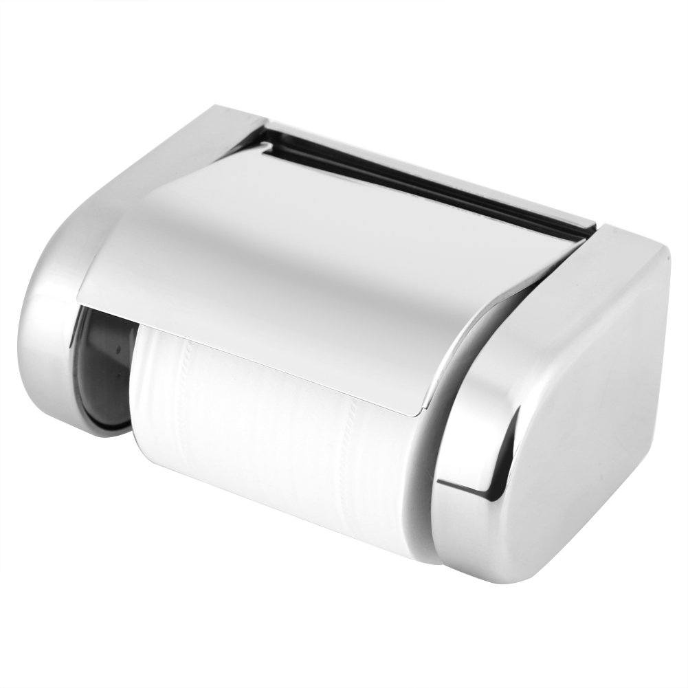 Aufee Toilet Roll Holder, Paper Towel Holder Stainless Steel Holder for Using in The Bathroom, Kitchen
