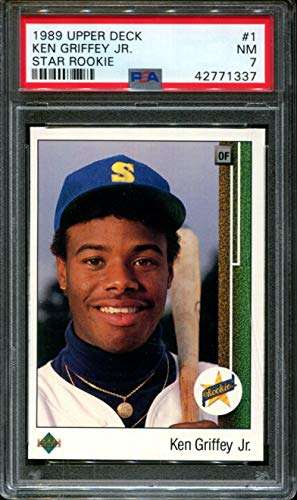 - 1989 Upper Deck #1 Ken Griffey Jr. Star Rookie RC NM PSA 7 Graded Baseball Card