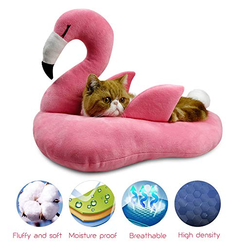 WarmShe Pet Cat Bed House Cute Banana, Warm Soft Punny Dogs Sofa Sleeping Playing Resting Bed, Lovely Pet Supplies for Cats Kittens (Large, Pink) ()