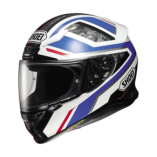 Shoei RF-1200 Parameter Blue/White Full Face Helmet, L 51s674DMCnL