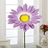 A-408 21'' Paper Giant Daisy with Stem(Lilac, 6pcs)