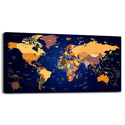Top 10 recommendation world map metal print for 2020
