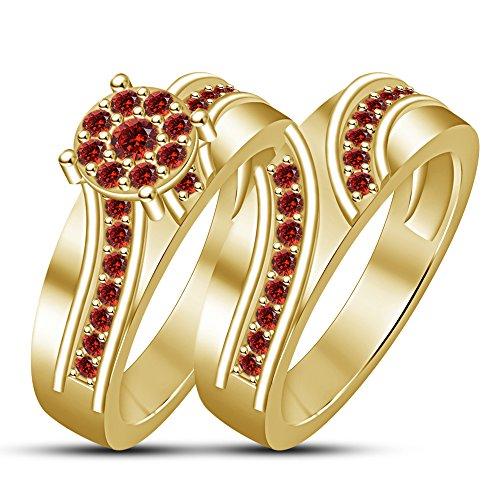 c7f0c3cdab95 De bajo costo Lilu Jewels - Juego de anillos de compromiso para novia