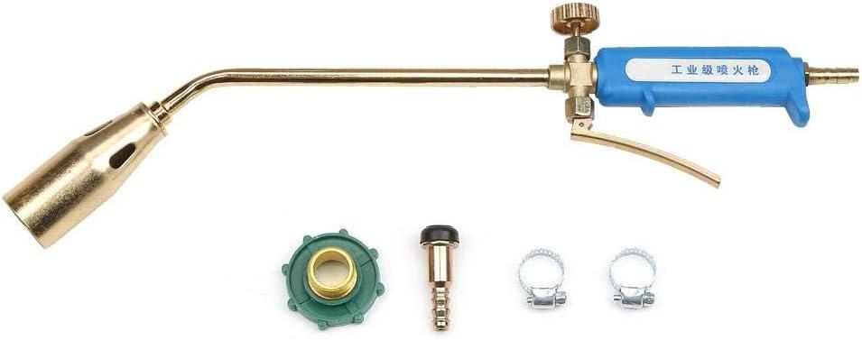 Antorcha de gas, antorcha de soldadura de gas de petróleo líquido de grado industrial de 35 mm, pistola de llama de soplete (válvula única, válvula + gatillo opcional)(35mm: Valve+trigger)