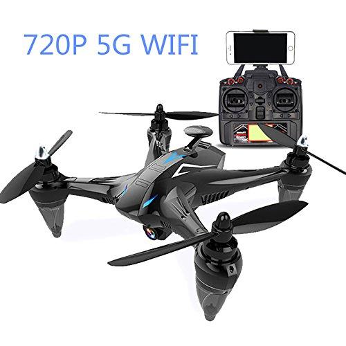 Rabugoo ドローン RC クアドコプター X198 / GW198 2.4G リモート コントロール 5G Wifi 720P カメラ付き Wifi FPV 高度維持 初心者向き おもちゃ ギフト