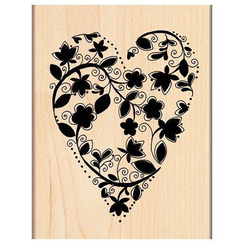 Love Mounted Rubber Stamp - Penny Black 4121K Wood Mounted Rubber Stamp, Love Grows