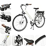 Onway 7 Speed 700C Woman City Electric Bicycle, 36V Brushless Motor, Removable Lithium Battery, 70038c Tire