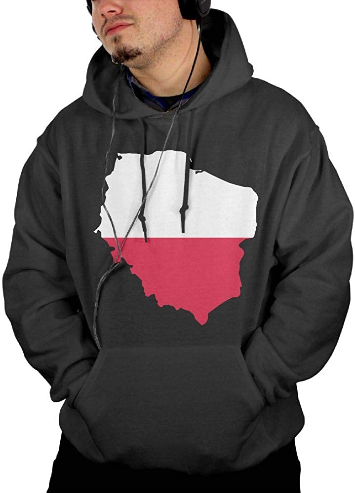 Ou30IL@WY Mens Poland Map Hooded Fleece Big /& Tall 100/% Cotton Fleece Hoodie with Pocket for Men