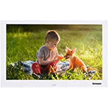 Kenuo 13 Inch Digital Photo Frame 1280 x 800 HD LED Screen with Calendar, MP3/Photo/Video Player with Remote Control White