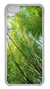 Customized iphone 5C PC Transparent Case - Yosemite Park Trees Personalized Cover