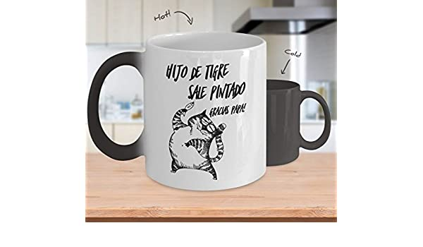 Amazon.com: Taza Magica Reactiva al Calor, Tazas Gato Chistosas cafe, Regalo para hombre el dia del padre: Kitchen & Dining
